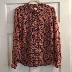 Beautiful J. Crew blouse - size Large!